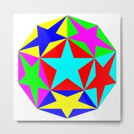 Half Dodecahedron Stars Metal Print