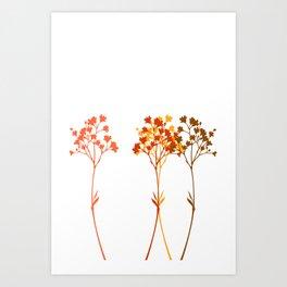 Sensation d'automne Art Print