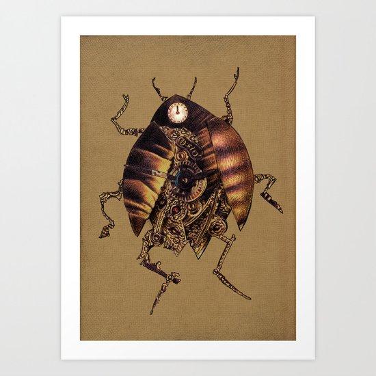Clock Beetle Art Print