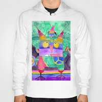 hippie Hoodies featuring Hippie Owl by Mesterpieces
