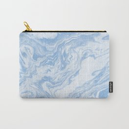 Ryoko - spilled ink abstract painting marble marbled paper art minimal swirl modern water ocean wave Carry-All Pouch