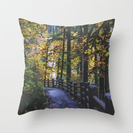 Glowing Yellow vertical Throw Pillow