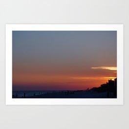 rosemary beach sunset Art Print