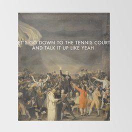 Tennis Court Oath Throw Blanket