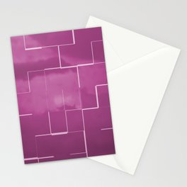 Labyrinth pink Stationery Cards