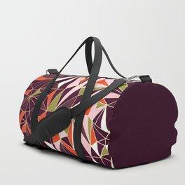 New Art Deco Geometric Pattern - Burgundi and Pink #deco #buyart Duffle Bag