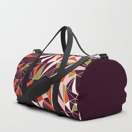 New Art Deco Geometric Pattern - Burgundi and Pink #deco #buyart Duffle Bag