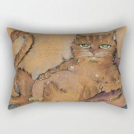 Lazy  Tom Rectangular Pillow