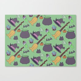 Wicked Fun Green Canvas Print