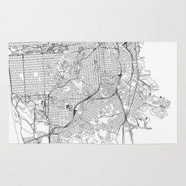 San Francisco White Map Rug