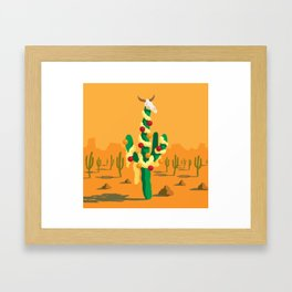 Merry Cactus Framed Art Print