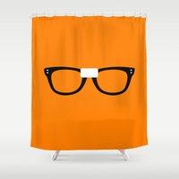 oitnb Shower Curtains featuring Alex Vause Glasses OITNB by Maria Giorgi