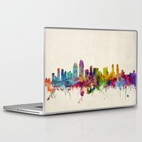 san diego Laptop & iPad Skins featuring San Diego California Skyline by artPause