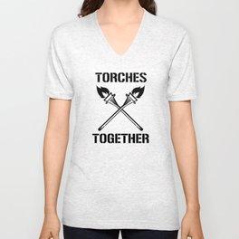 Torches Together Unisex V-Neck