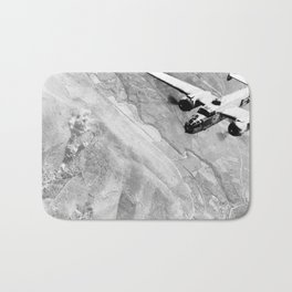 B-25 Bomber Over Germany Bath Mat