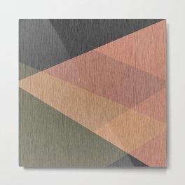 Green , grey , beige  abstract Metal Print