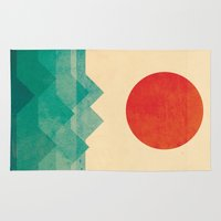red hood Area & Throw Rugs featuring The ocean, the sea, the wave by Picomodi