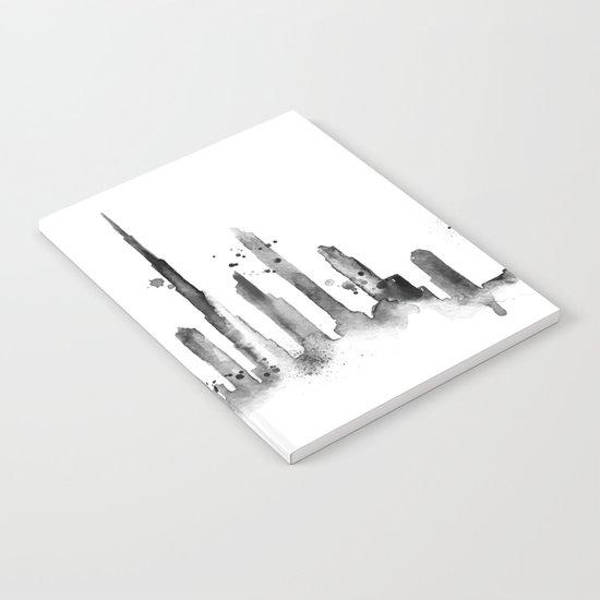 White Dubai Skyline Notebook
