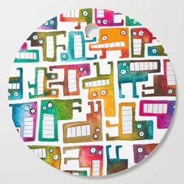Tetris Monsters Cutting Board