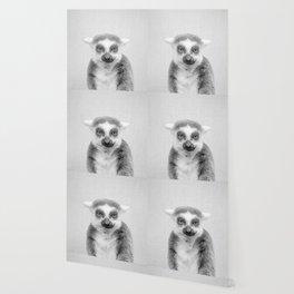 Lemur - Black & White Wallpaper