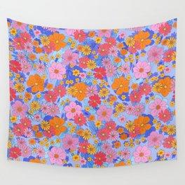 Retro 60s 70s flower power hippie Pattern Wall Tapestry