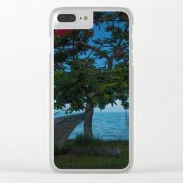 Tropics Beauty Clear iPhone Case