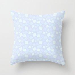 animal crossing floor patterns square winter snow Throw Pillow