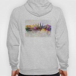 Aarhus skyline in watercolor background Hoody