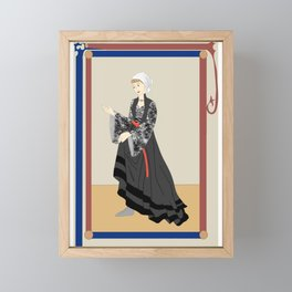 'Audrey' Medieval Fashion Plate Framed Mini Art Print