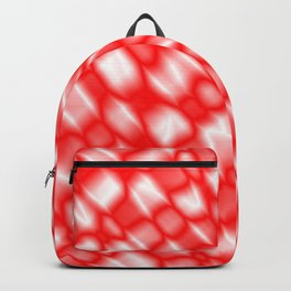 Splashes of paint in a red diagonal with cracks on the plastic film. Backpack