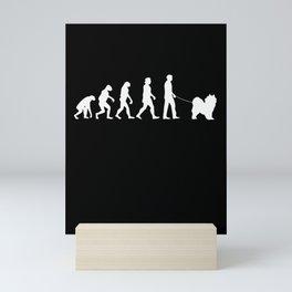Samoyed Evolution Sled Dog Mini Art Print