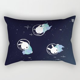 Space Bunnies Rectangular Pillow