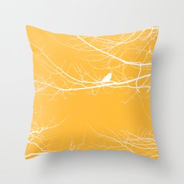 The Lonely Bird in the Tree III Throw Pillow