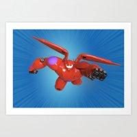 big hero 6 Art Prints featuring Baymax Big Hero 6 by ZariusArts