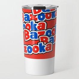 Bazooka retro bubble chewing gum Travel Mug