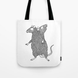 Two Headed Rat, I Love You Tote Bag