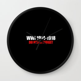 Commemoration WWI 1914-1918 Wall Clock