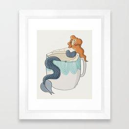 Tea Mermaid Framed Art Print