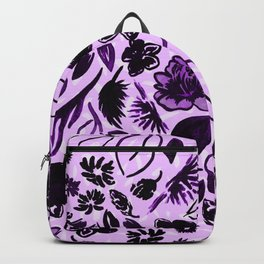 Fight in Floral Backpack