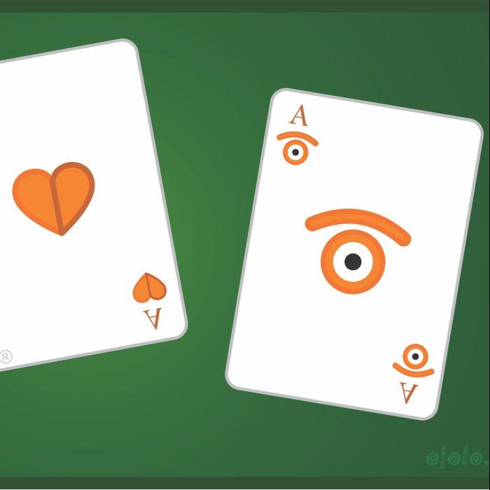 poker of glances Duvet Cover