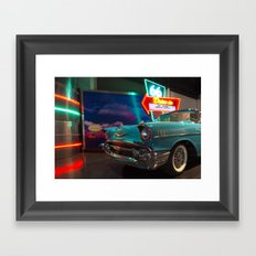 Chevy Drive In Framed Art Print