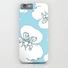 Blue Pansies Slim Case iPhone 6s