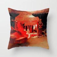 dancer Throw Pillows featuring Dancer  by Ethna Gillespie