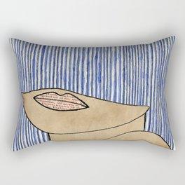 Rain Girl Rectangular Pillow