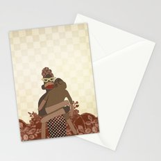 Sock Monkey Mother and Child Stationery Cards