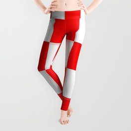Red & White Checkerboard Leggings