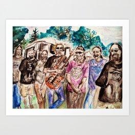 Dark Star Orchestra Grateful Dead Painting Art Print