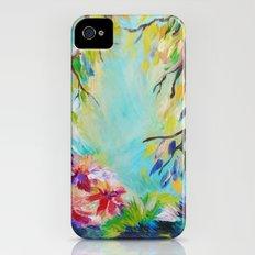 BLISS - Stunning Bold Colorful Idyllic Dream Floral Nature Landscape Secret Garden Acrylic Painting iPhone (4, 4s) Slim Case