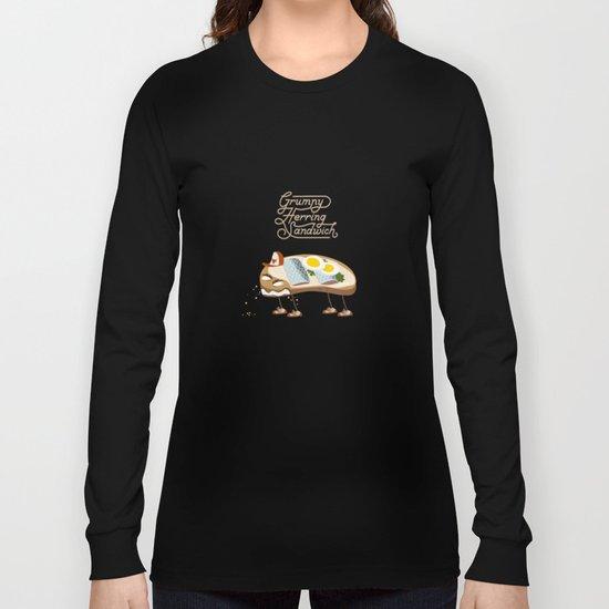 Grumpy Herring Sandwich Long Sleeve T-shirt