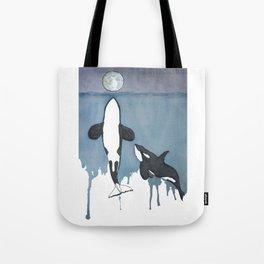 Orca Moon Tote Bag